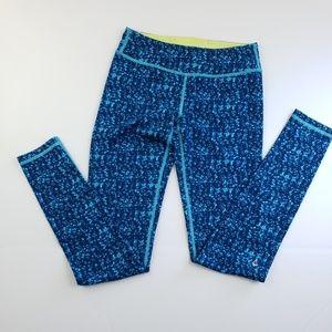Ivivva girls two toned blue full length fitted leg